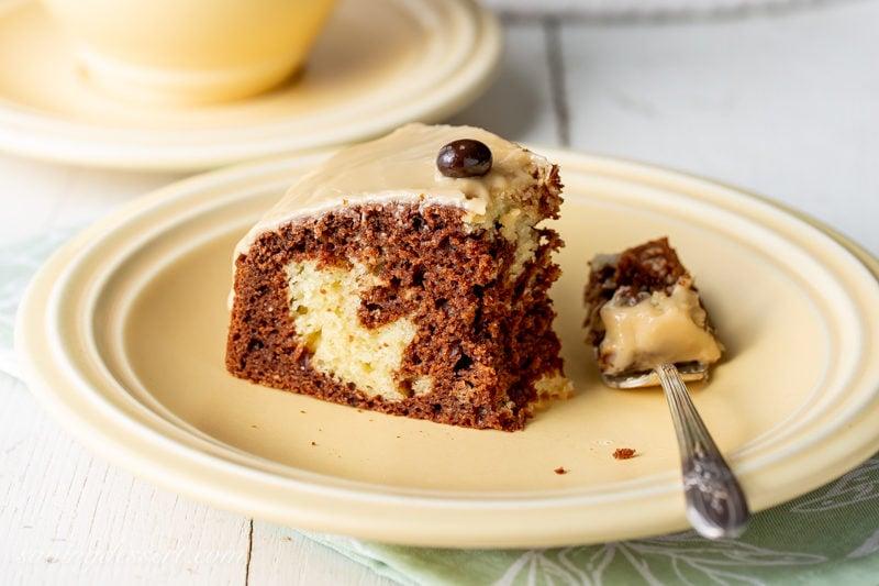 A slice of Irish Cream Breakfast Cake
