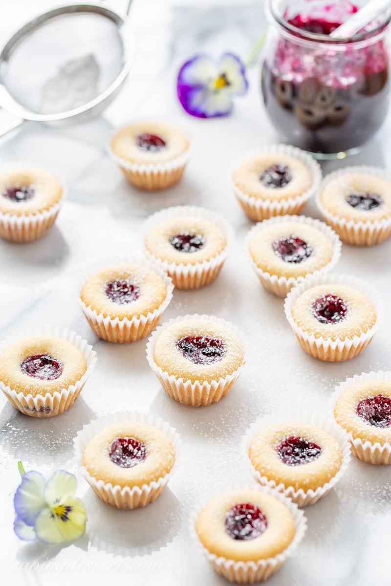 Almond Tea Cakes amongst Wild Blueberry Jam  Almond Tea Cakes amongst Wild Blueberry Jam