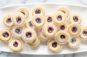 Almond Tea Cakes with Wild Blueberry Jam