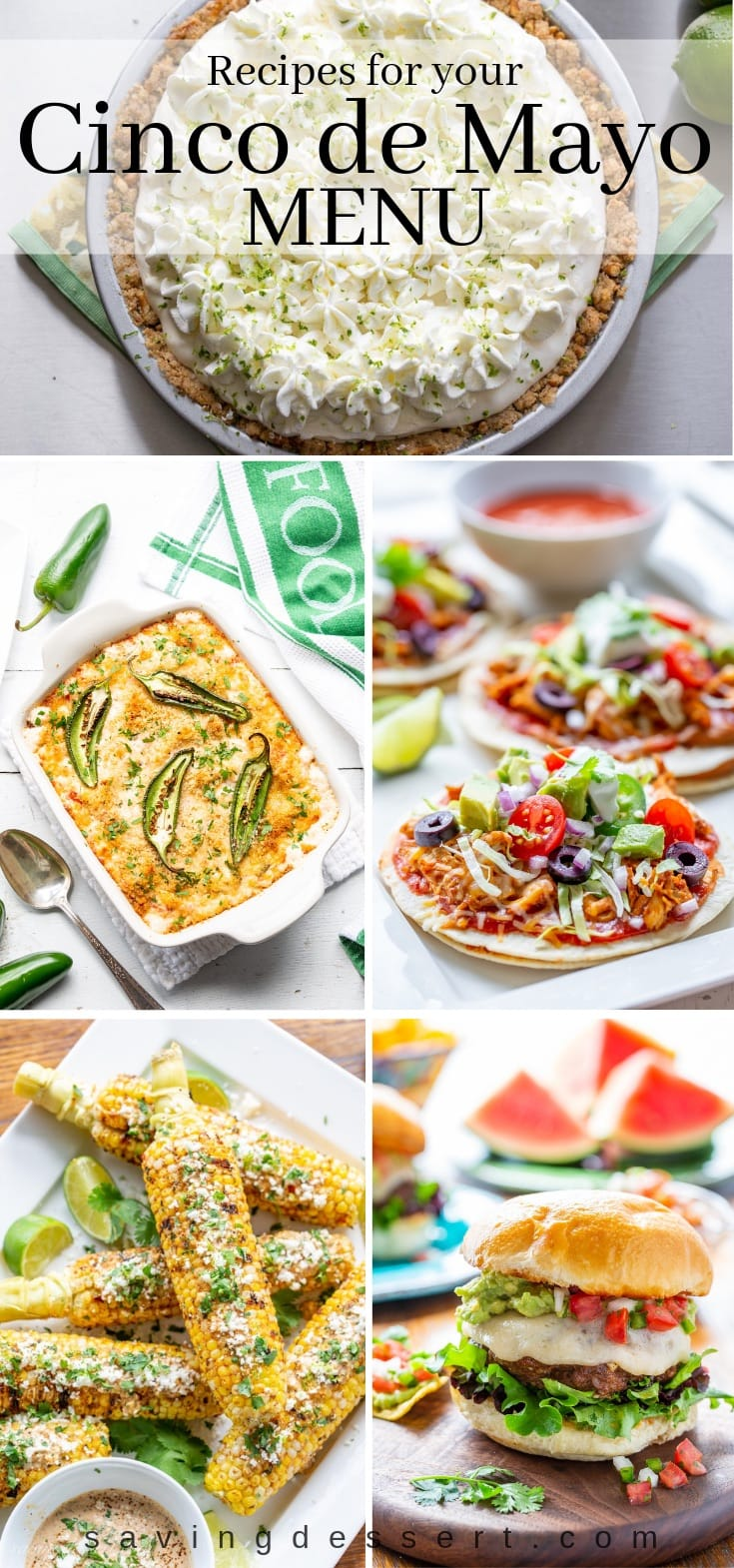 A collage of Mexican inspired recipes