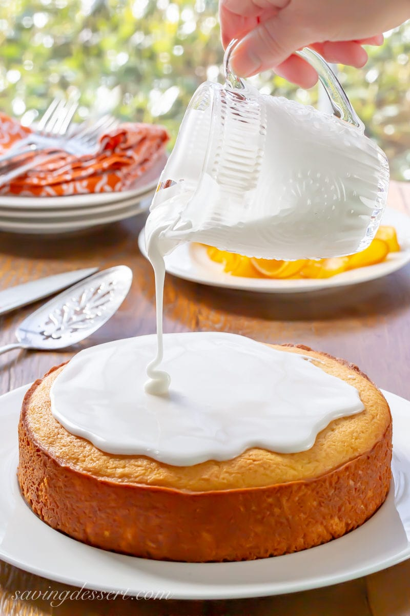 Sunny Citrus Cake drizzled with a simple glaze of powdered sugar and lemon juice