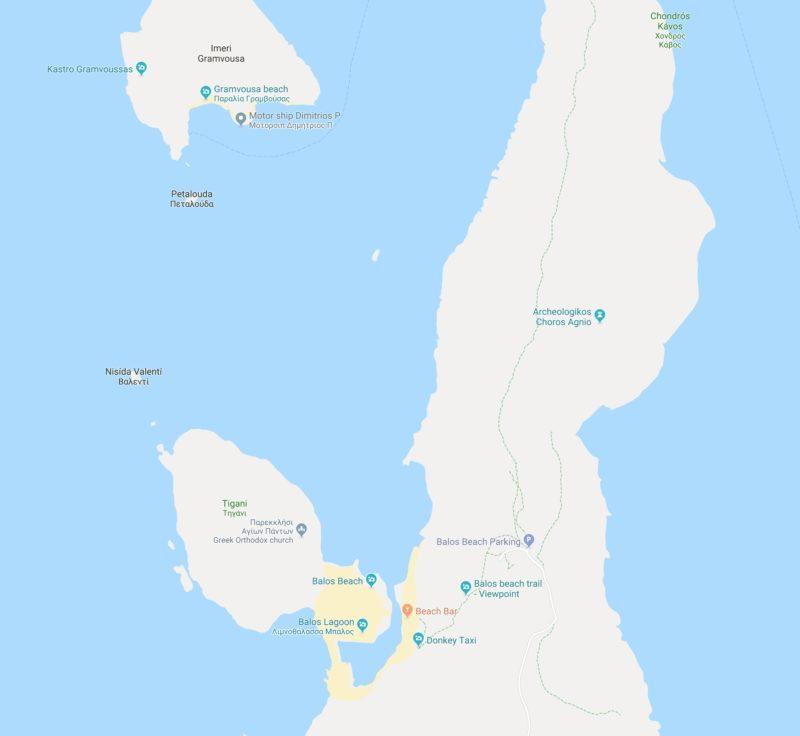 A map of Balos Beach