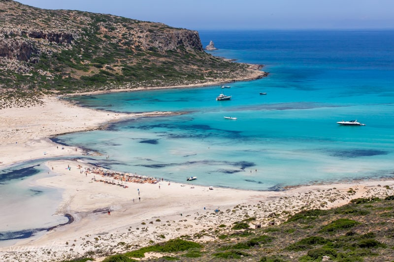 Balos Beach with boats