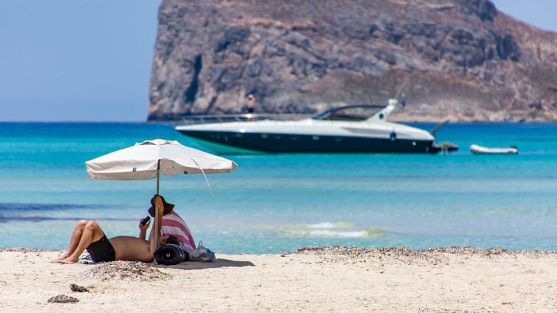 Relaxing on Balos Beach