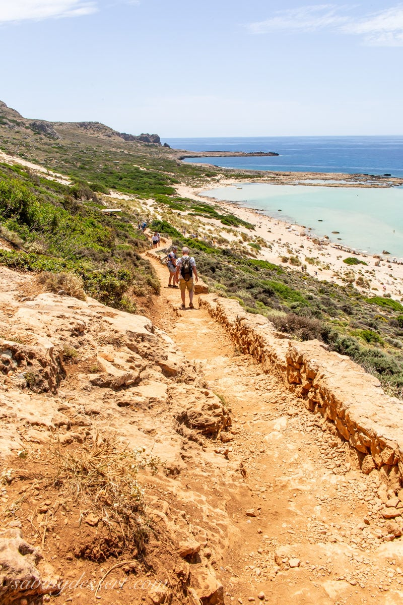 The rocky trail to Balos Beach