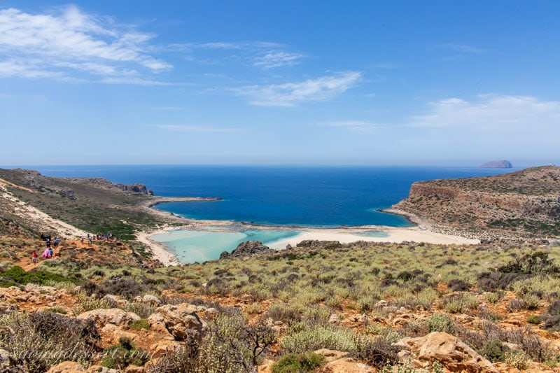 Balos Beach and lagoon on the Island of Crete