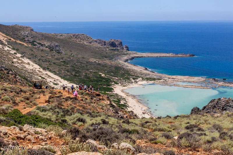 Balos Beach and trail