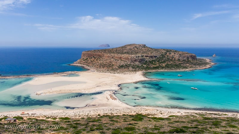 A wide angle view of Balos Beach on the Island of Crete in Greece