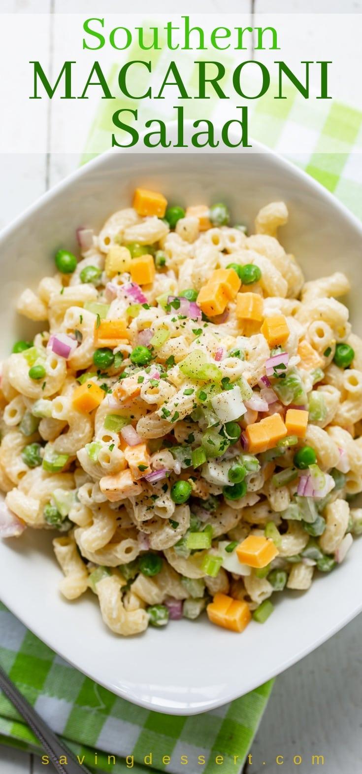 Southern Macaroni Salad from savingdessert.com