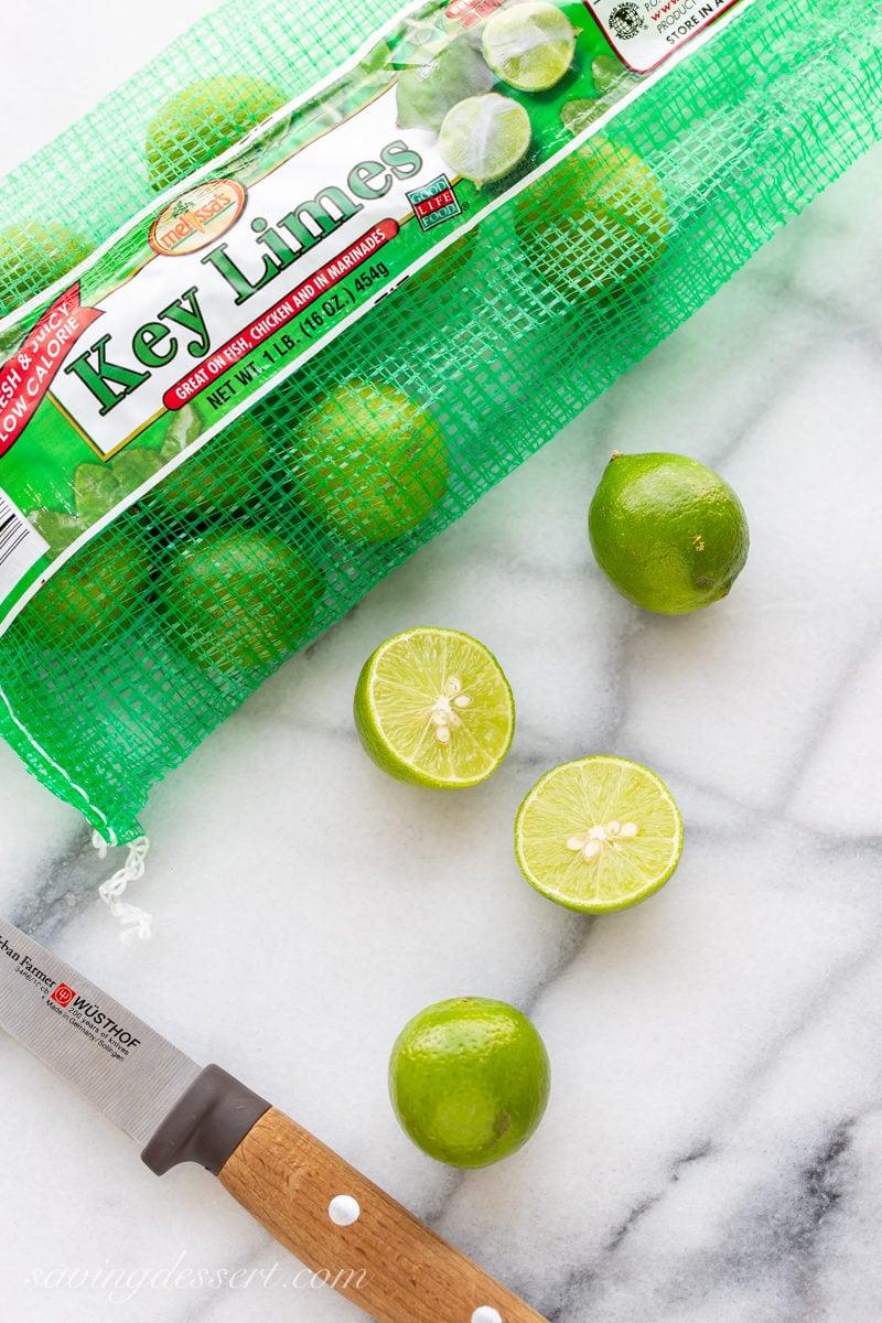 A bag of fresh key limes