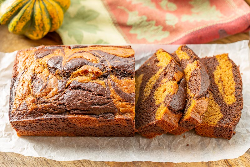 Chocolate Marbled Pumpkin Bread Recipe Saving Room For Dessert