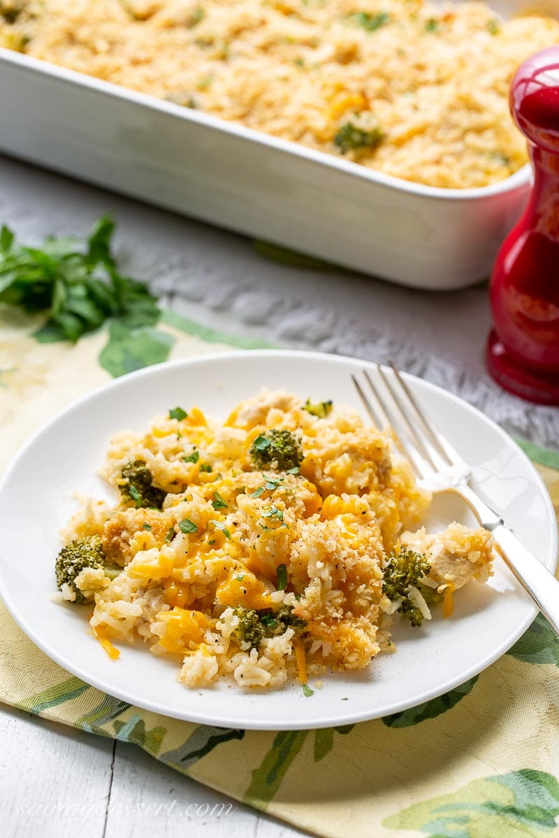 A place of chicken and broccoli casserole