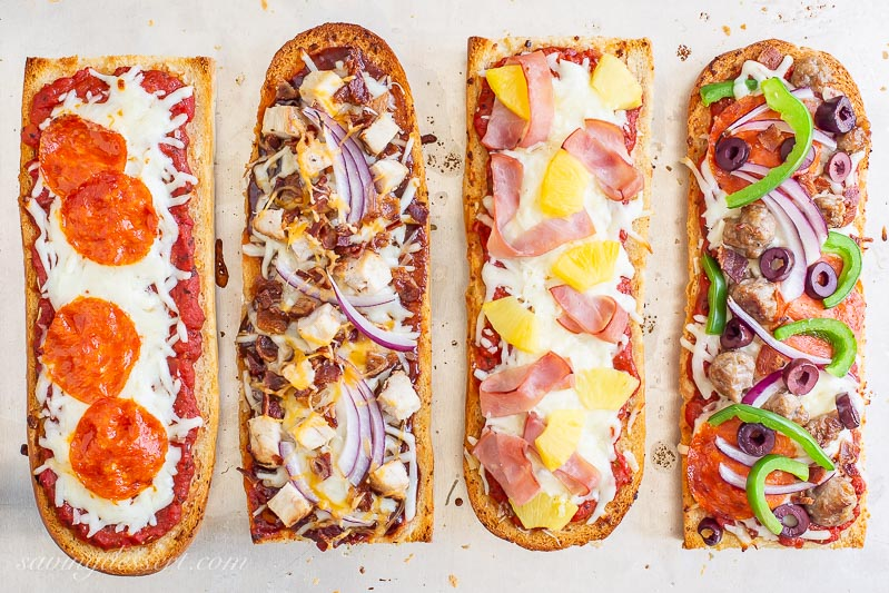 French Bread Pizza 4 Ways Saving Room For Dessert