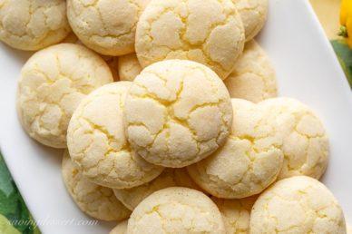 A plate of lemon sugar cookies