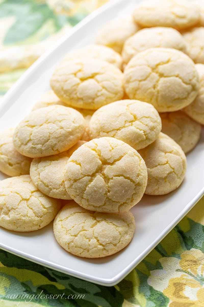 Lemon cookies on a platter