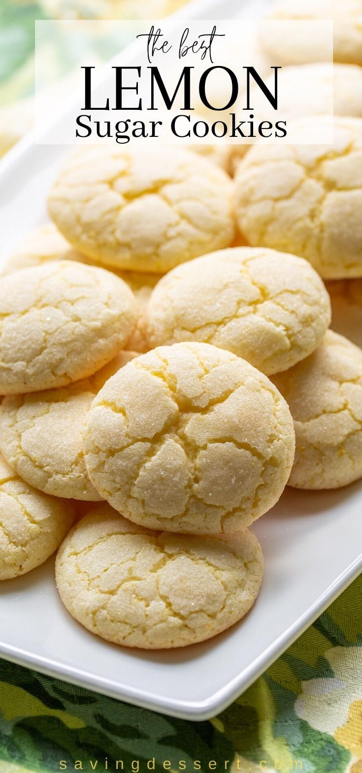 A platter of lemon sugar cookies