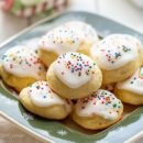 A plate of Ricotta Cookies